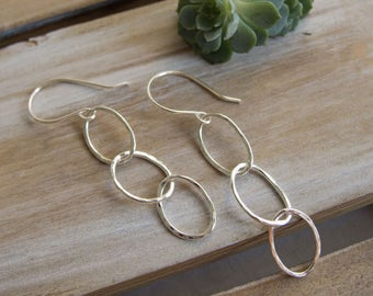 Silver Hoop Earrings, Sundance Style Jewelry, Classic Jewelry,  Everyday Hoops, Fine Silver Earrings,  Dangle Earrings, Small Hoop Earrings