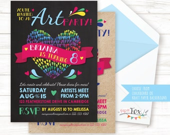 Art Party Invitation // Art Birthday Invitation // Art Birthday Party Invitation / Art Party Invite / Birthday Party Invitation // PRINTABLE