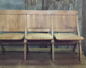 Folding Chapel 3 Seat Bench - Collection