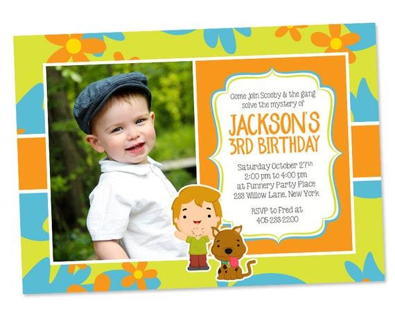 Scooby Doo Photo Invitation Scooby Doo Party Invitation – Scooby Doo Party Invites