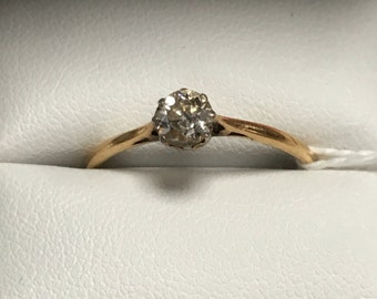 18ct gold 0.4ct diamond solitaire ring at bargain price