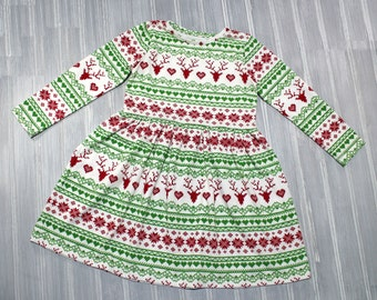 Christmas Dress - Deer Dress - Girls Dress - Toddler Dress - Baby Dress - Holiday Dress - Party Dress - Girls Outfit - Baby Outfit - clothes
