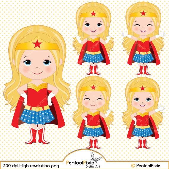 Wonder woman superhero cartoon
