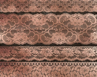 Rose Gold Lace Clipart, Gold Lace borders clip art scrapbook embellishments, png vintage lace png digital instant download commercial use