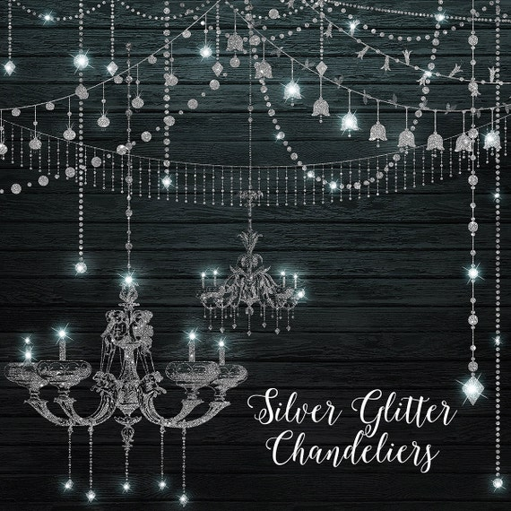 Silver glitter chandeliers clipart digital chandelier clip art silver glitter chandeliers clipart digital chandelier clip art string lights party lights fairy lights png diamonds commercial use from digitalcurio aloadofball Gallery