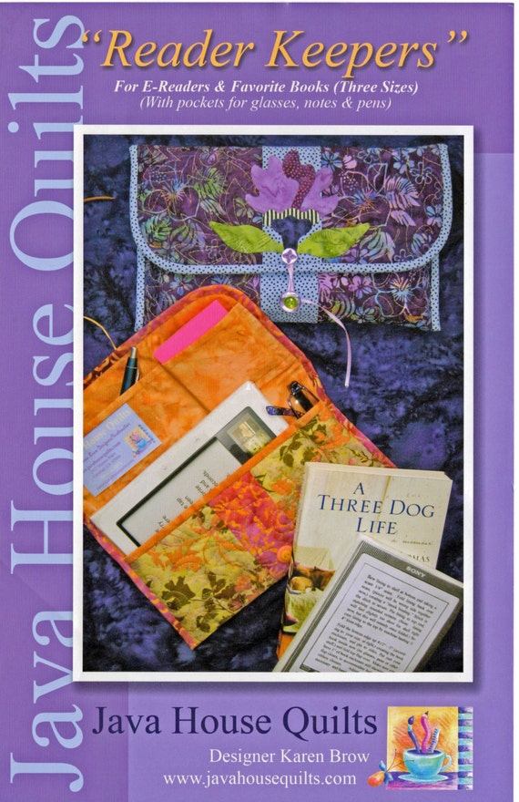 Book Cover Pattern Java ~ Book cover pattern java house quilts readers keepers
