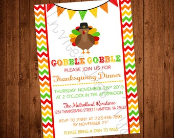 Cute and Colorful Thanksgiving Invite