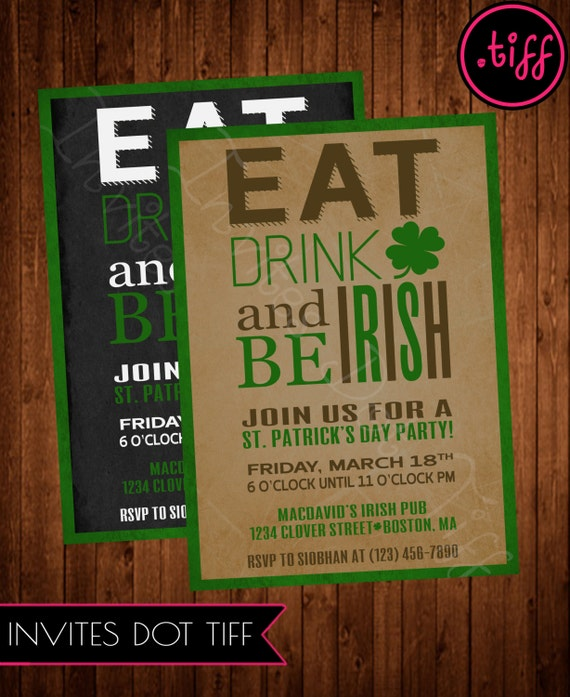 Eat, Drink, and be Irish Printable