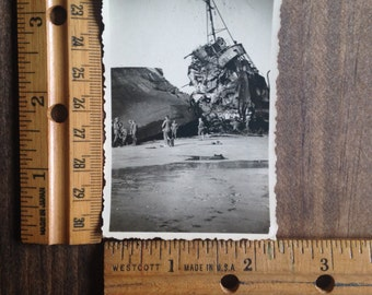 Vintage Ship Wreck Photo