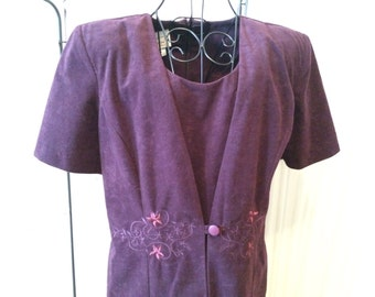 Vintage Velvet Purple Dress