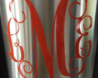 Monogram Decal, Custom Yeti Decal