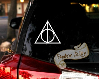 Deathly Hallows Decal - Harry Potter inspried Symbol