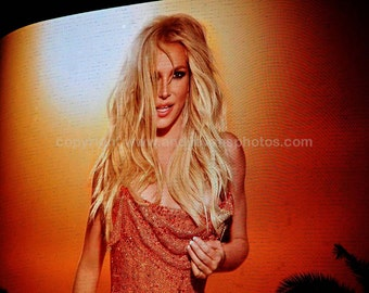 The Britney Spears neon show poster at Planet Hollywood Resort in Las Vegas Nevada USA colour photograph landscape picture poster art print