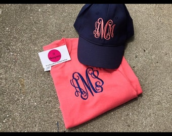 Bundle Deal Shirt and Hat monogram combo