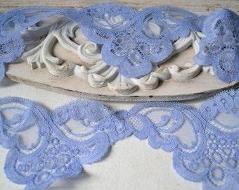 Vintage Calais lace, 1970's, width 8 cm