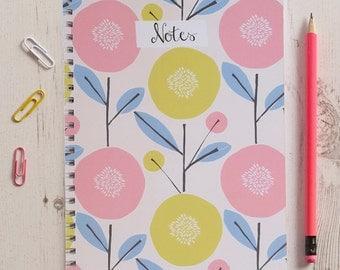 Scandi Floral Spiral Bound Notebook