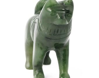 Canadian Nephrite Jade Carving, Husky