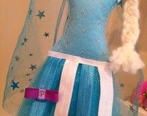 Elsa or Frozen INSPIRED tutu bow holder or hair clip holder