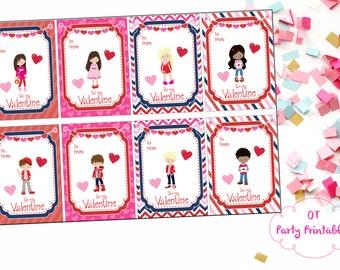 INSTANT DOWNLOAD - Tween Valentine - Digital Valentine - You Print - Printable Valentine - Class Valentine's Day Card - Valentine