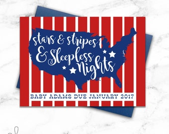 4th of July Baby Shower Invitation | Patriotic Photo Prop | 4th of July Baby Announcement | Pregnancy Announcement