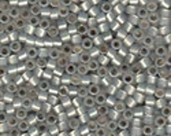 MIYUKI #11 Delica 1455 - Silver Lined Light Smoke Opal - 5 grams