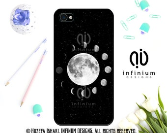 Lunar Moon Phases Case For iPhone 7, 7 Plus, iPhone 6S, iPhone SE, iPod Touch 6, iPhone 6 Plus, iPhone 5S & iPhone 5C Case