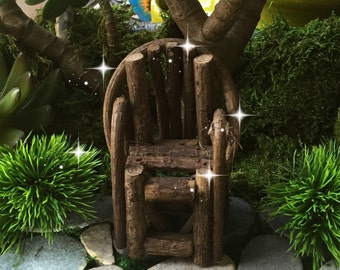 Fairy garden, miniature garden, fairy grapevine chair, miniature twig chair, miniature rustic chair, fairy miniatures, miniature fairy chair