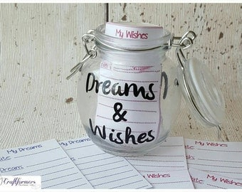 Keepsake Jar - Personalised Dreams & Wishes Storage Jar