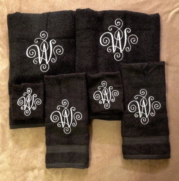 Monogrammed Towel Custom Embroidered Monogrammed By
