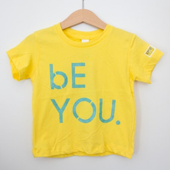 Infant yellow cotton crew // American Apparel brand // bE YOU.