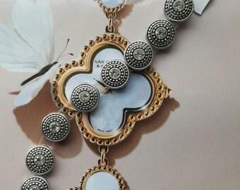 Silver Slider Crystal, Jewelry, FrancesKelseyTags, Supplies, Findings, Hardware, Crystal Slide Beads