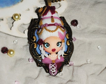 Polymer clay Marie Antoinette necklace