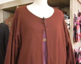 Jacket woman, larger sizes, Tess, Burgundy colour