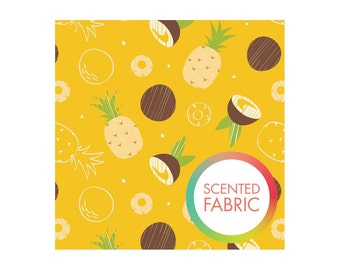 Pineapple coconut scented fabric by camelot designs studio pineapple coconut print fabric