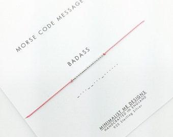 Badass Morse Code bracelet