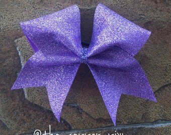 Glitter Cheer Bow - lavender