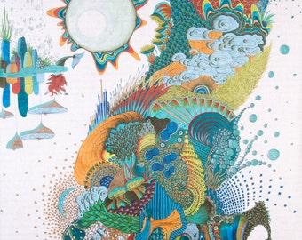 The Pearl of wisdom 2015 70cm * 97cm pencil, felt-tip marker, Fineliners on rice paper