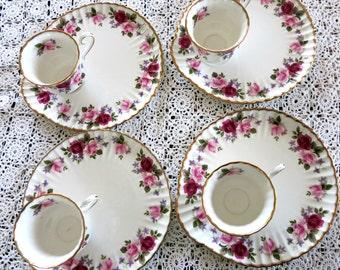 Grosvenor China, Jackson&Gosling, English Bone China, High Summer China Pattern, Vintage China, Tea Plates/Cups