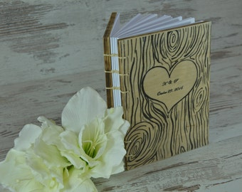 Wedding Guest Book Rustic Wooden Guest Book Personalized Guestbook Wedding Custom Guest Books