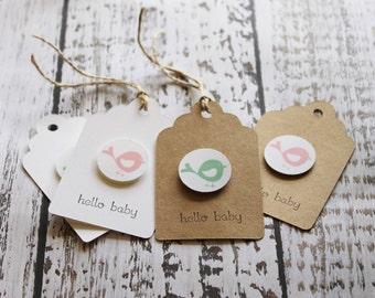 Gift tags for babies, gift tags for birth of baby, gift tags for baby shower