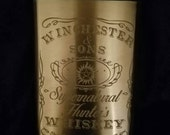 Winchester & Sons Supernatural Hunters Whiskey Supernatural Inspired Etched Stainless Steel 8oz Dean and Sam Winchester Whiskey