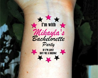 Bachelorette tattoo pink diamond tattoo bachelorette party for Bachelorette party tattoos