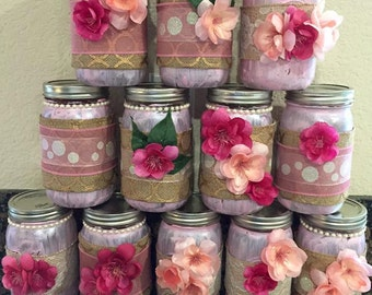 Mason Jars-for weddings, baby showers or centerpieces