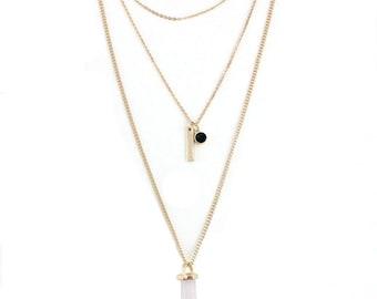 Rose Quartz Layering Necklace