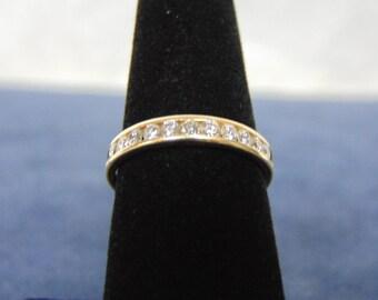 Womens Vintage Estate 14k Yellow Gold Diamond Baguette Ring 3.2g #E2192