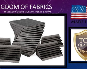 Professional acoustic sound proof foam kit. 96 sqft. 2-IN. wedge foam and 8 corner bass traps.