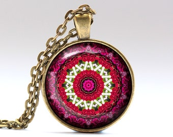 Mandala jewelry Boho necklace Indie pendant OWA411