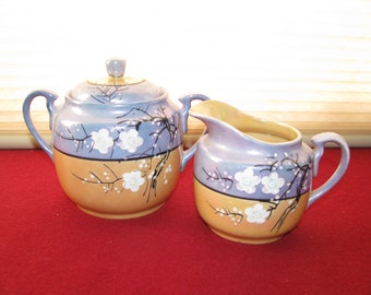 Sale - Vintage Lusterware Sugar and Creamer