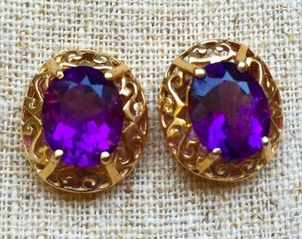 4.98 Carat Amethyst Earrings