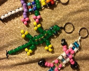 Pony Bead Lizard Keychain Stim Toy